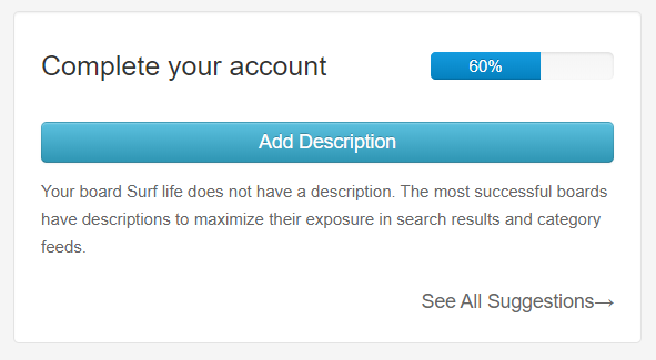 Complete your account in Tailwind